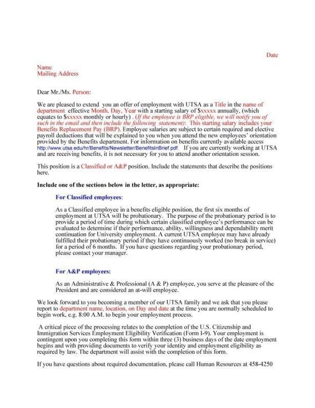 Sample Counter Offer Letter | Template Design