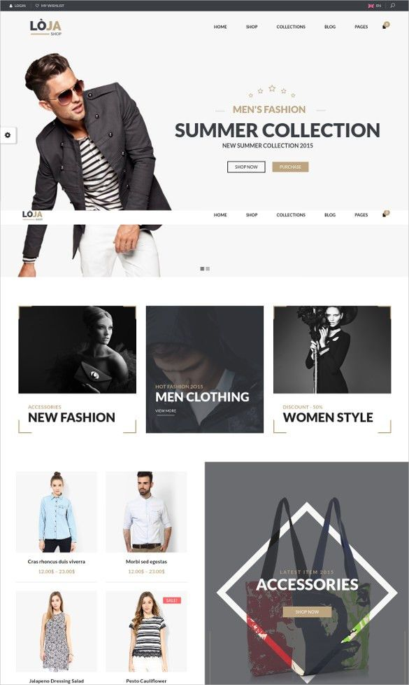 32+ Fashion Designers Website Themes & Templates | Free & Premium ...