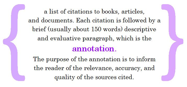 How to Write an Annotated Bibliography - DBH 9019 Guide - AZHIN at ...