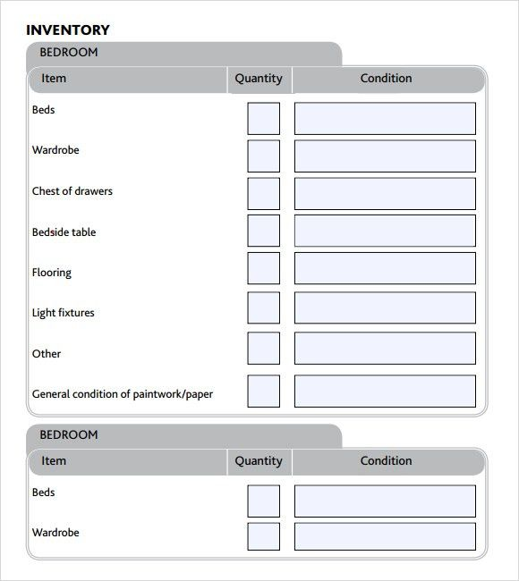 Landlord Inventory Template Free | Samples.csat.co  Landlord Inventory Template Free