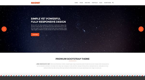 Magnet - Simple Multipurpose Website Template - Themes & Templates