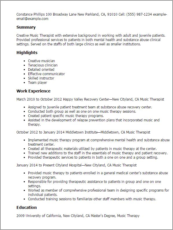 Professional Music Therapist Templates to Showcase Your Talent ...