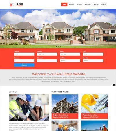 Real Estate Builders Web Templates Archives - WebThemez