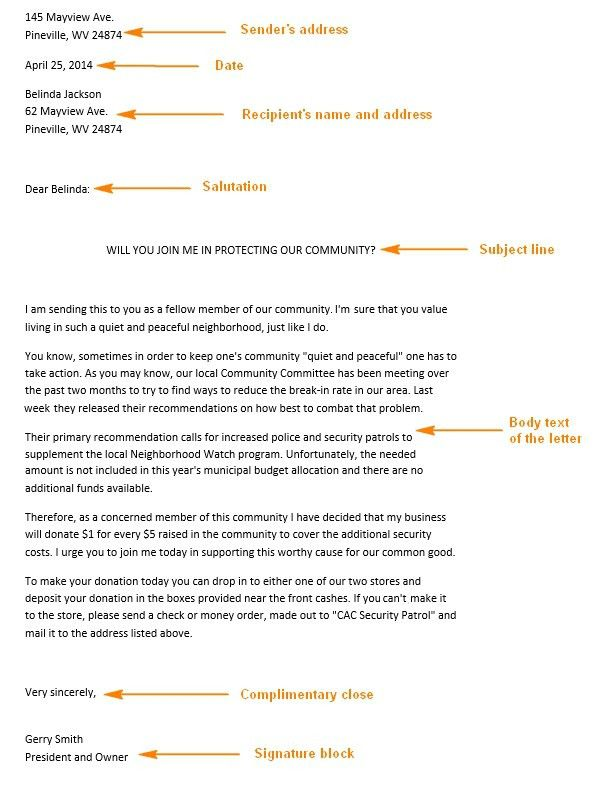 Persuasive Business Letter Example - The Letter Sample