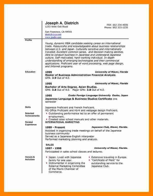 Resume Template Microsoft Word. Chronological Resume Format 2017 ...