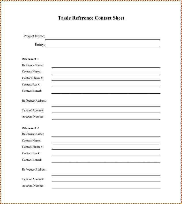 Trade Reference Template. 40 Free Credit Application Form ...