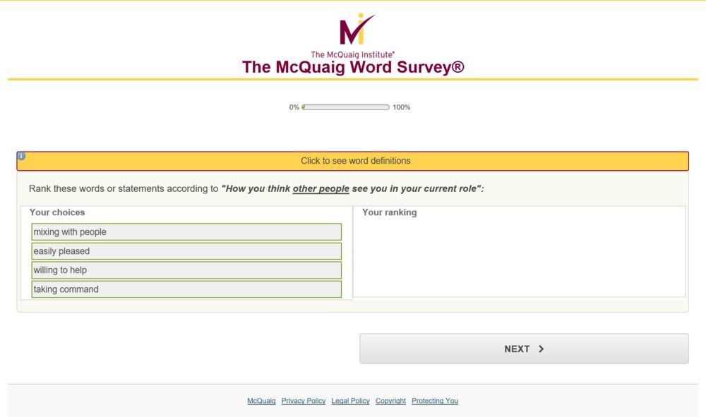 Hamilton Resourcing - McQuaig Word Survey