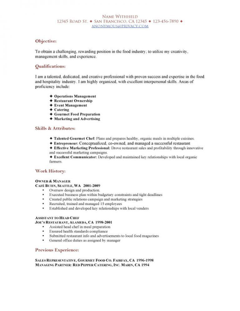 Homey Inspiration Catering Resume 13 Catering Server Resume Job ...