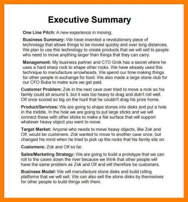 4+ executive summary report template | packaging clerks