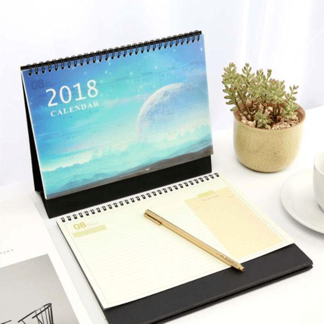 Online Shop 1 Pcs/set Creative 2018 Year Calendar Blue Planet Desk ...