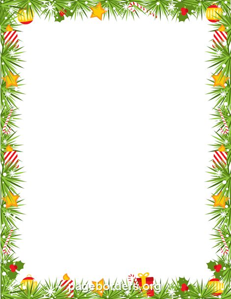 Christmas Garland Border: Clip Art, Page Border, and Vector Graphics
