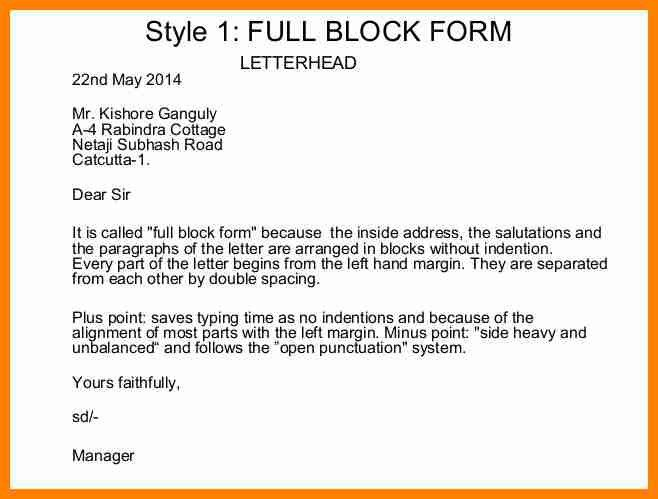 10+ example of complete block style letter | buyer resume
