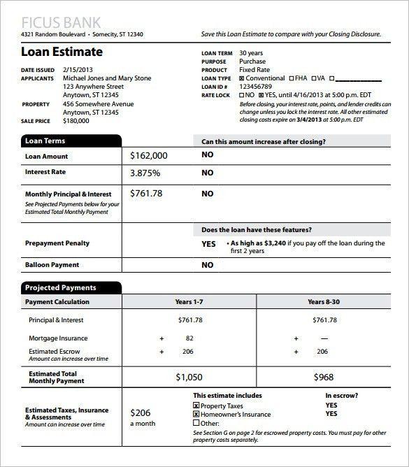 10+ Sample Estimate Templates – Free Word, Excel & PDF Documents ...