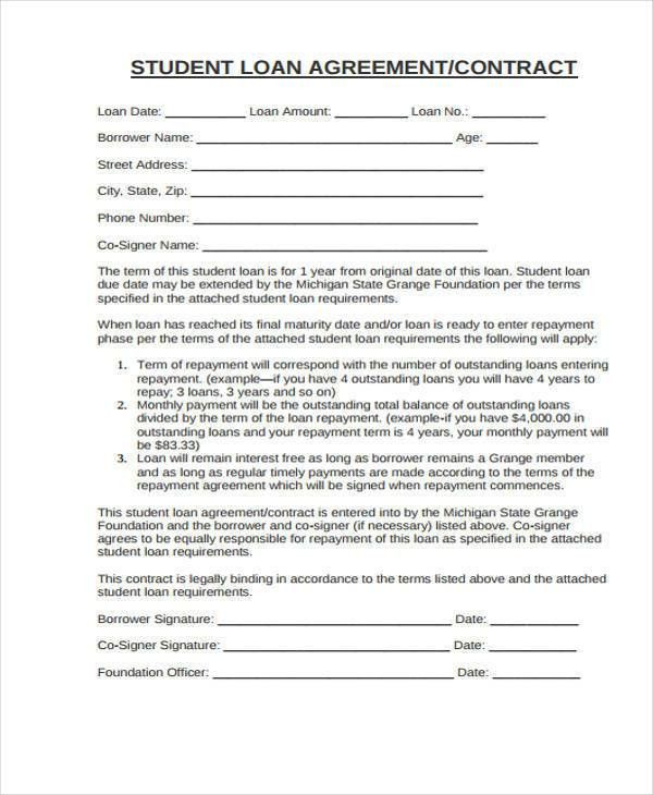 10+ Student Contract Templates - Free Word, PDF, Format Download