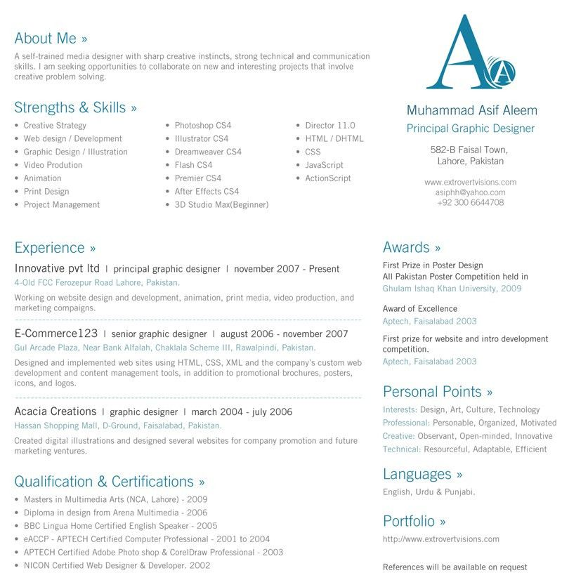 Resume One Page | haadyaooverbayresort.com