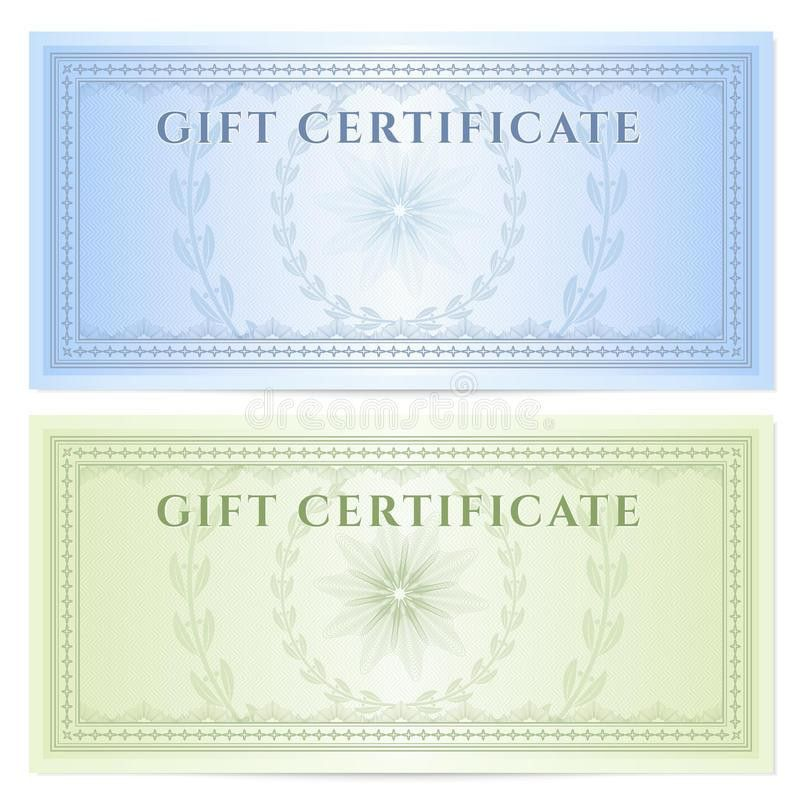 Gift Certificate (Voucher) Template With Pattern Royalty Free ...
