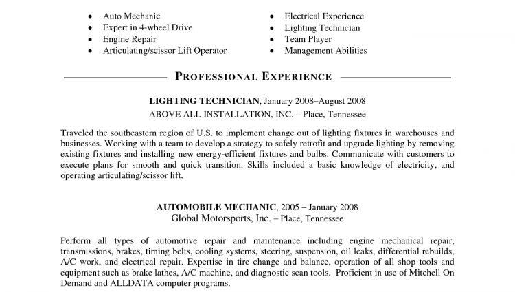Vehicle Mechanic Resume / Sales / Mechanic - Lewesmr