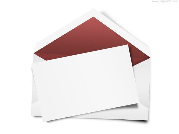 Envelope with blank note (PSD) | PSDGraphics