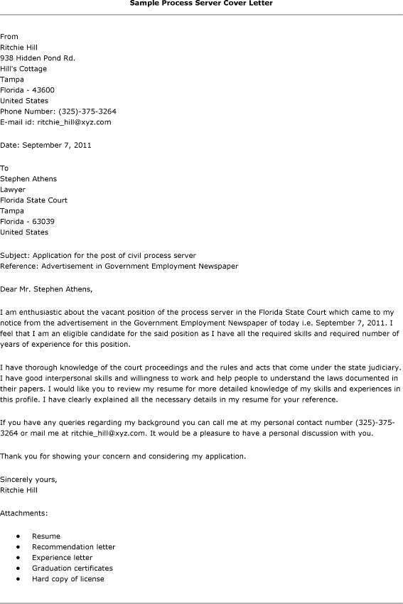 Pretty Inspiration Ideas Server Cover Letter 3 Best Examples - CV ...