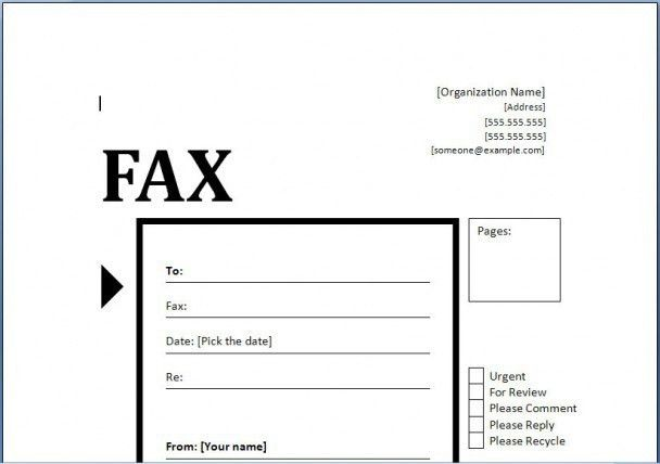 Fax Cover Letter Example | | jvwithmenow.com