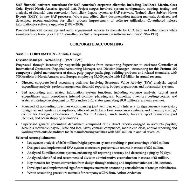 Examples Of Professional Summary For Resume. Examples Of A Summary ...