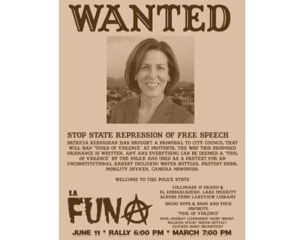 """Occupy puts out """"wanted"""" poster on council woman, marches on her ..."""