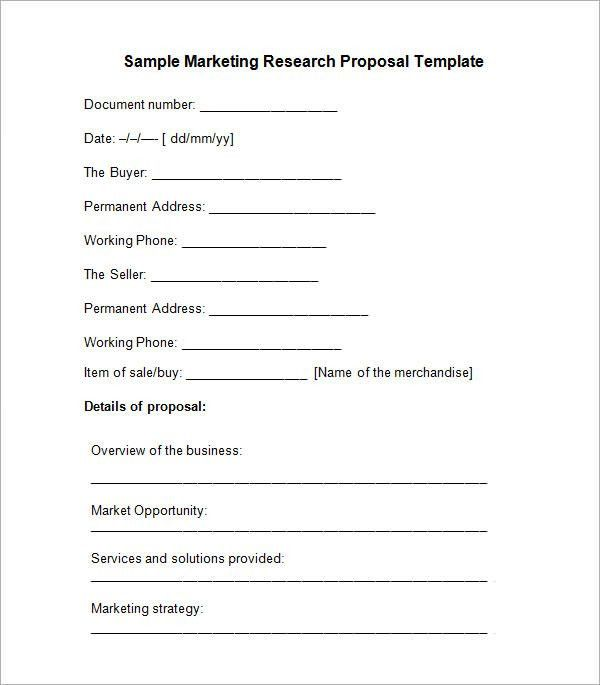 Sample Research Proposal Template - 5+ Free Documents Download in ...