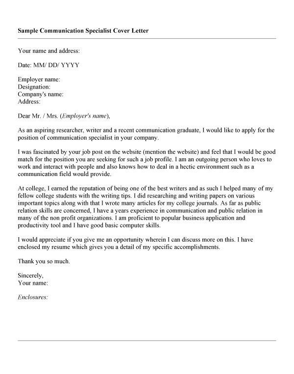 Communication Skills Cover Letter Examples - Compudocs.us