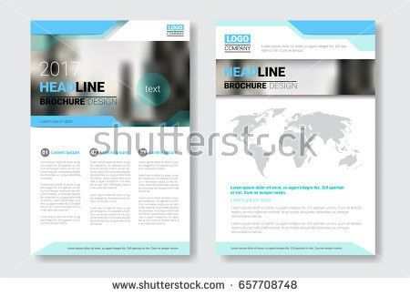 Template Design Brochure Annual Report Magazine Stock Vector ...