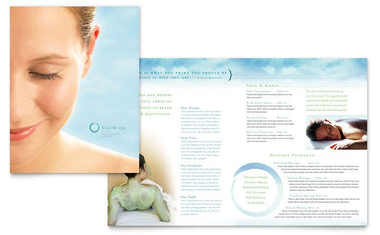 Day Spa & Resort Brochure Template - Word & Publisher
