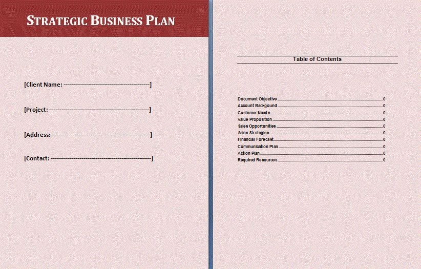 Strategic Business Plan Template | Formsword: Word Templates ...