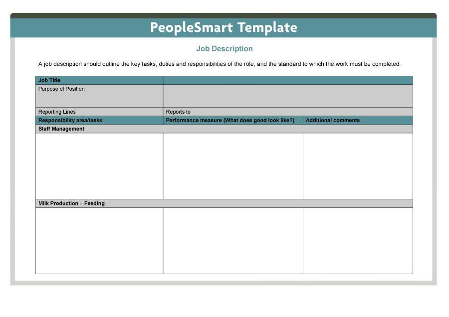 47 Job Description Templates & Examples - Template Lab