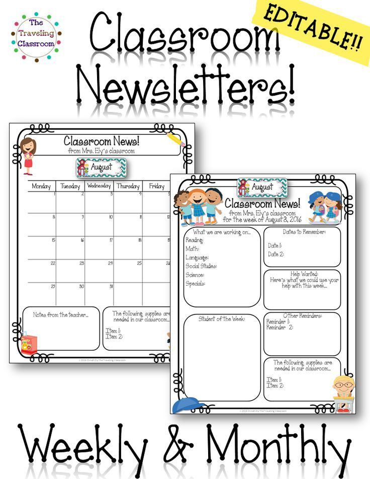 25+ best Weekly newsletter ideas on Pinterest | Weekly classroom ...