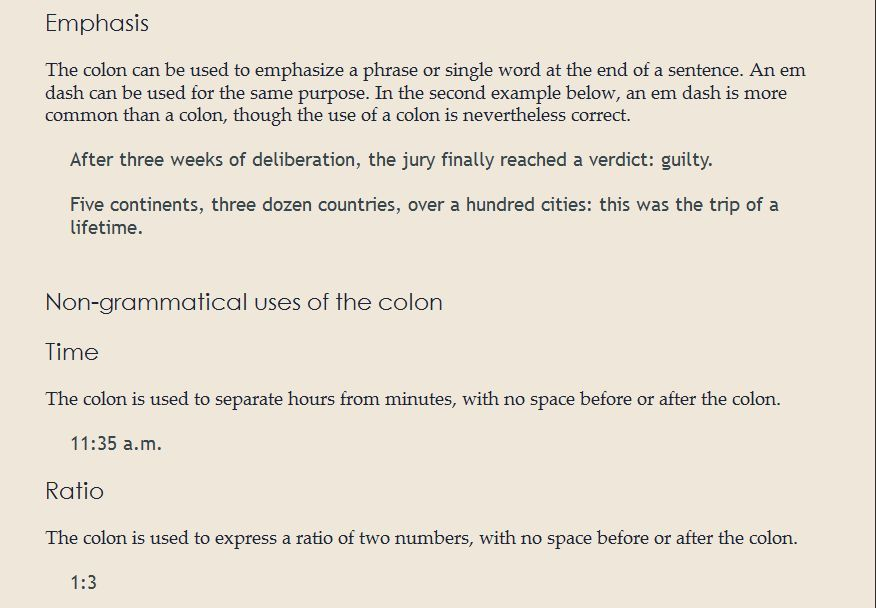 """Colons after a single word (e.g. """"Example:"""") - English Language ..."""