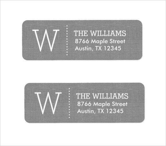 return address label template