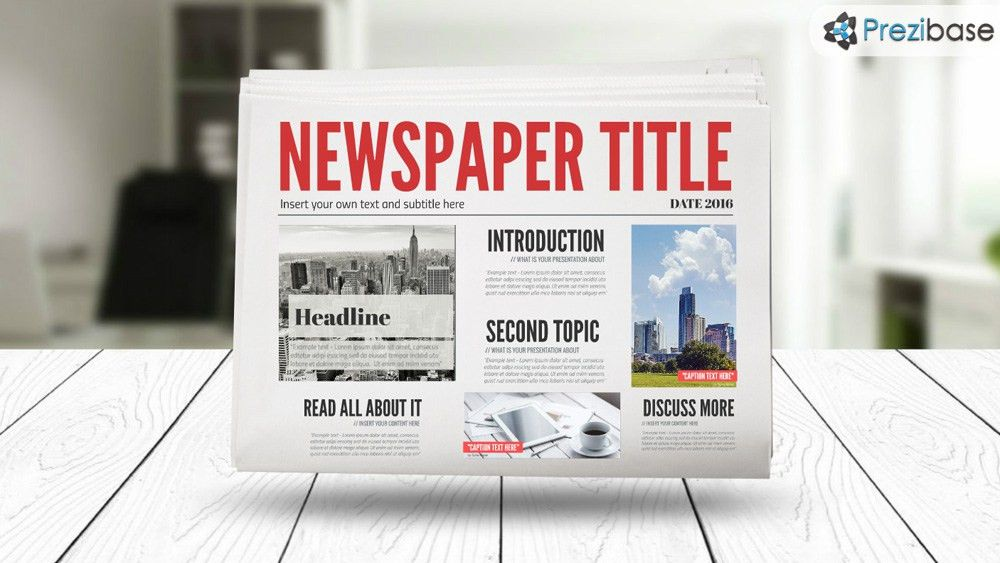 3D Newspaper Prezi Template | Prezibase