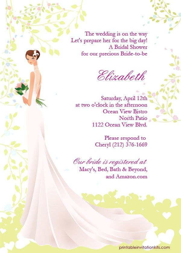 Spring Bride – Bridal Shower Invitation ← Wedding Invitation ...