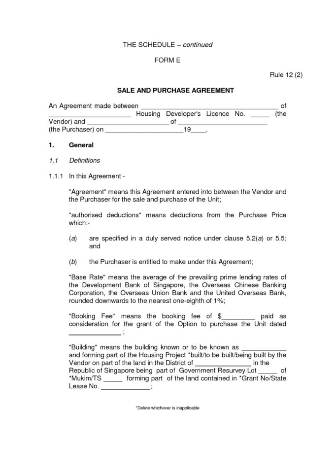 Private Party Contract And Bill Of Sale Letter For Sale Of Motor ...