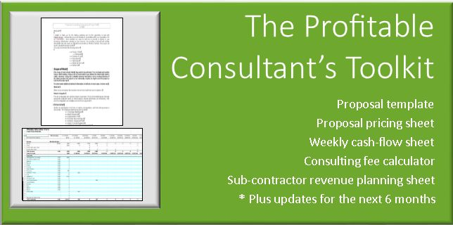 Consulting Proposal Template and Pricing Worksheets