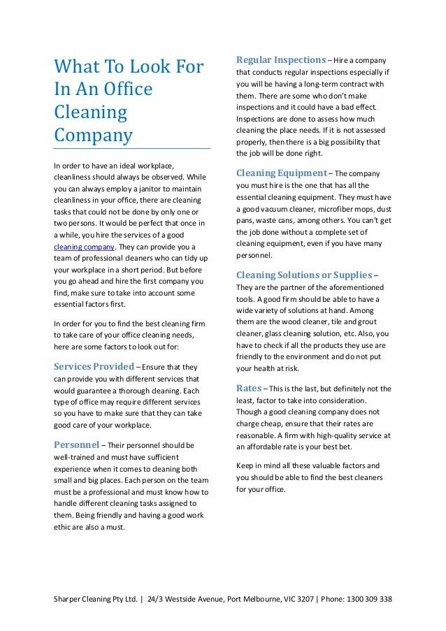 Cleaning company - Factors to consider, services offered, tips