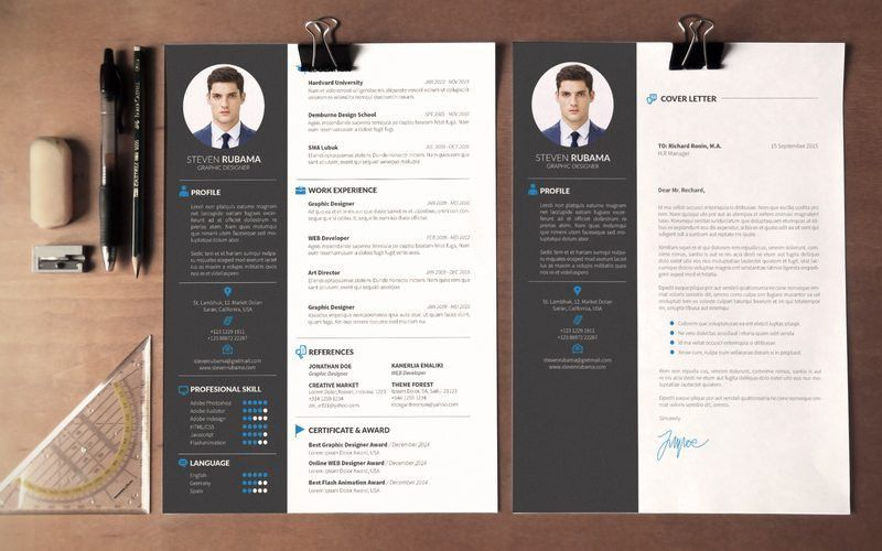 free modern resume template psd. contemporary resume templates ...
