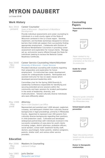 counseling resume examples school counselor resume sample
