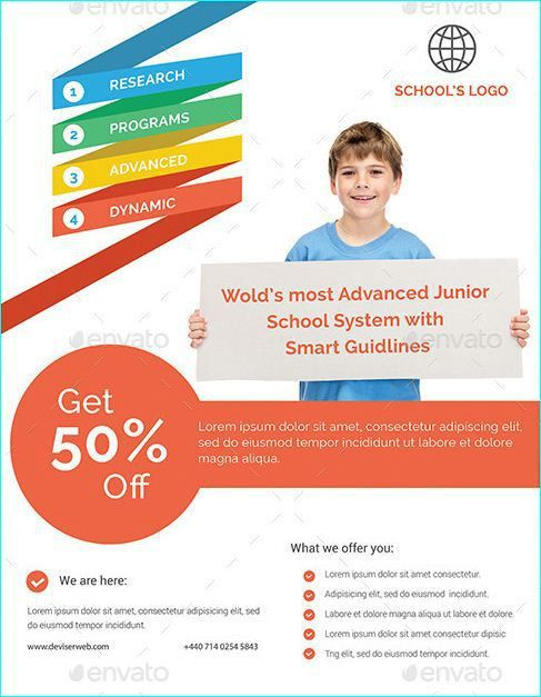 20 best Professional Educational PSD School Flyer Templates images ...