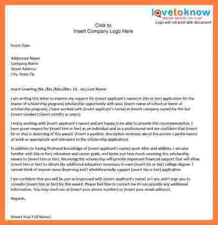 6+ how to write a scholarship recommendation letter sample ...