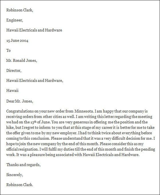 Resignation Letter Format: Undertaking Application Resignation ...