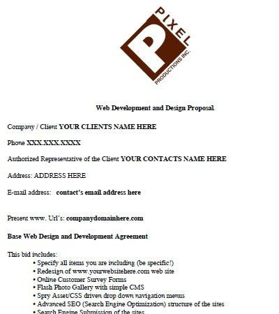 Sample Proposal Contract. Contract Template : Selimtd Proposal ...