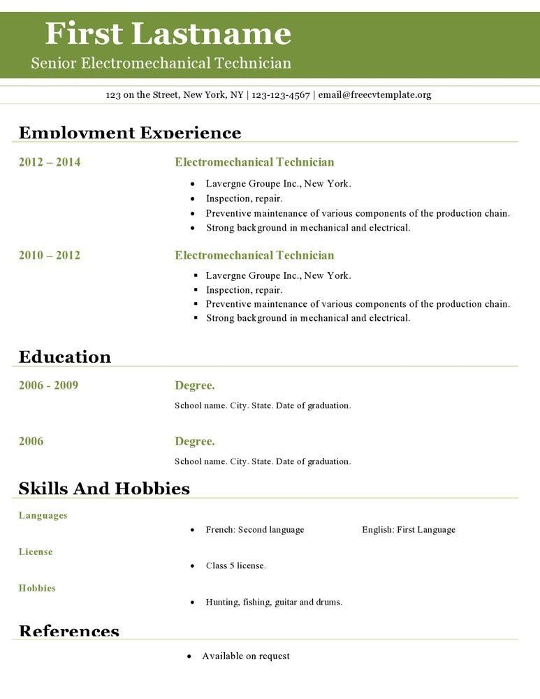 Download Resume Template Open Office   haadyaooverbayresort.com