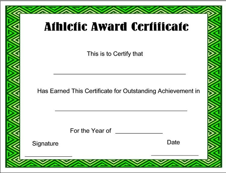 award-Sports-Certificate Templates