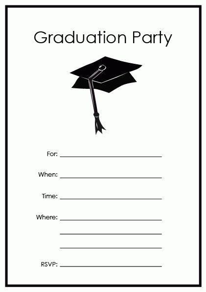 Free Printable Graduation Party Templates | Printable Graduation ...