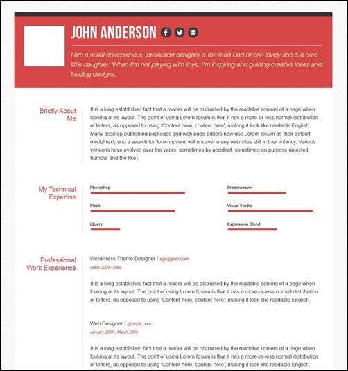 30 Amazing Resume PSD Template Showcase | Streetsmash